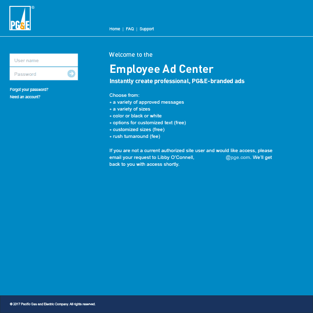 PG&E Employee Ad Center